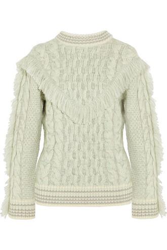 sweater white knit