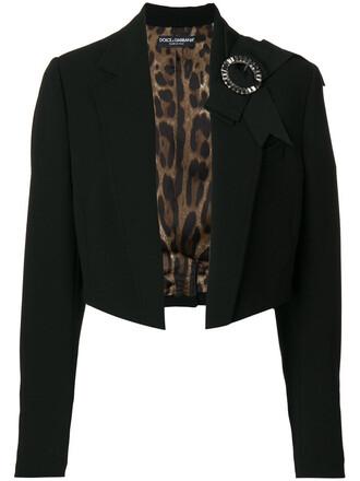 jacket bow cropped women spandex black wool
