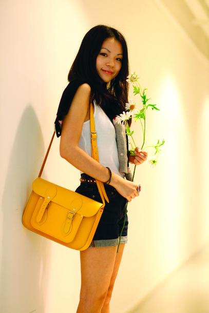 satchel yellow bag old school old school bag