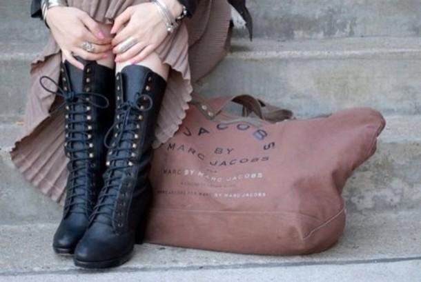 shoes, boots, combat boots, lace up