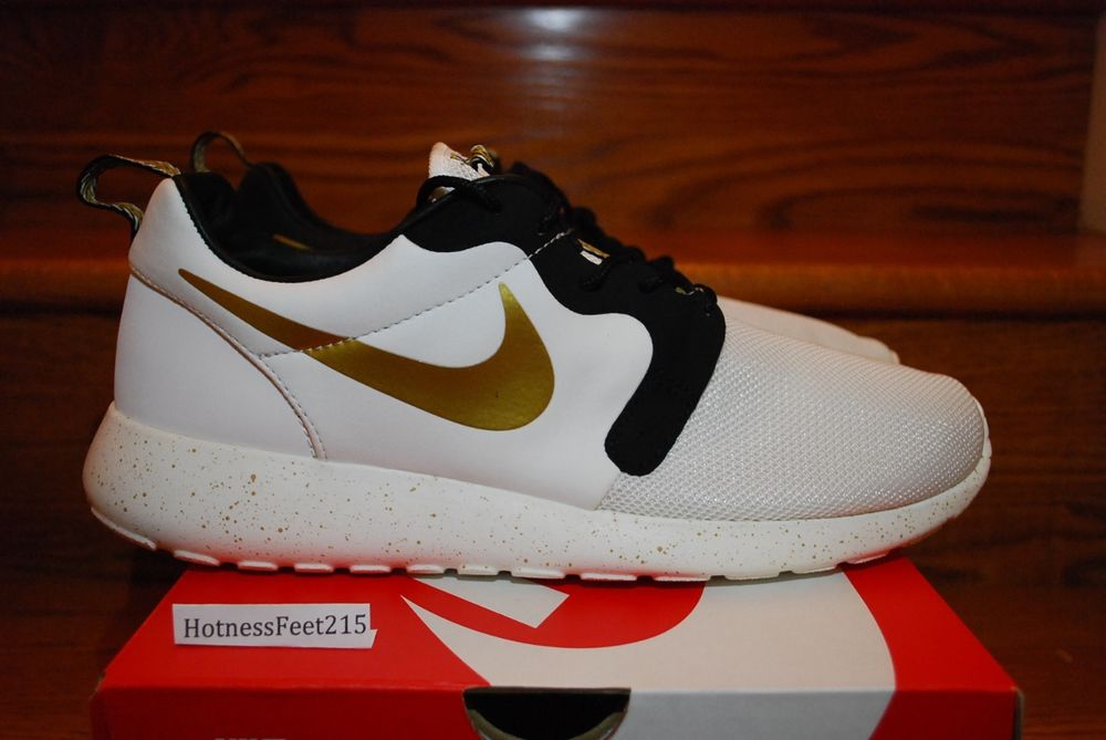 0d72751ea0f41 Nike Roshe Run Hyperfuse PRM QS Gold Trophy Pack 669689-100 Rosherun SZ   8-13