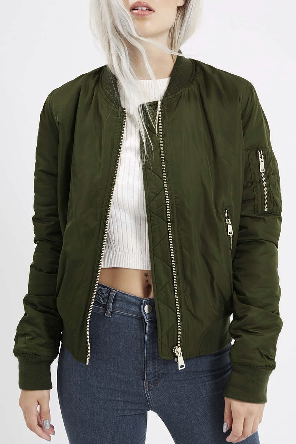 Neck Zipper Design Baseball Jacket ARMY GREEN: Jackets & Coats | ZAFUL