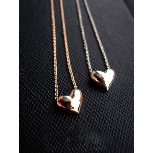 18K Gold Plated Small Simply  Heart Necklace - Brandliker | Online Accessories & Clothing store