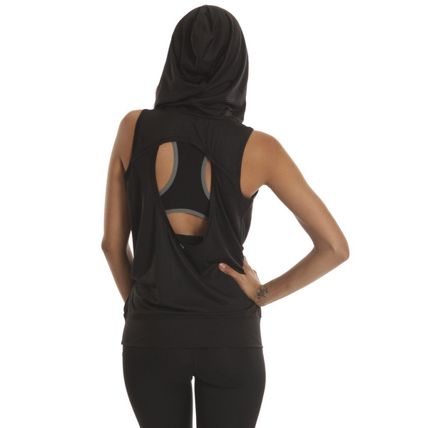 Colosseum Black Drop Needle Drape Top | Emprada
