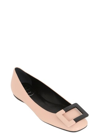 flats leather nude shoes