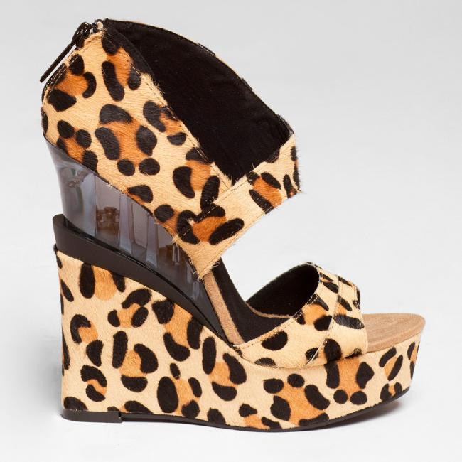 MICHAEL ANTONIO STUDIO GALLAGHER WEDGE in Leopard – FLYJANE