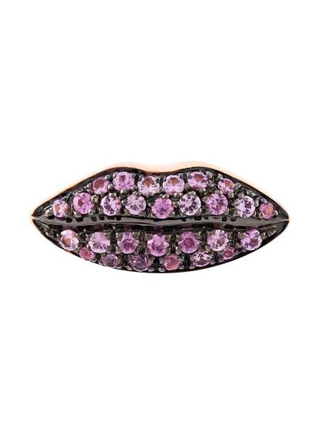 Delfina Delettrez women lips gold purple pink jewels