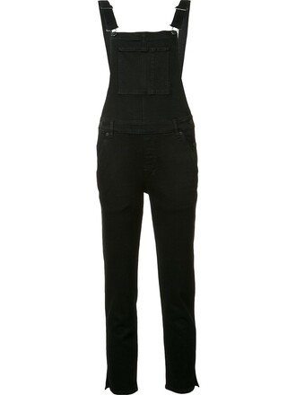 cropped women spandex cotton black jumpsuit