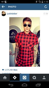 shirt,mens,justin bieber,red shirt,celebrity,hot,clothes,fluffy,jumper