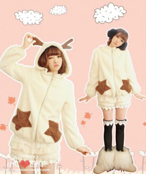 sweater winter outfits winter sweater hoodie animal ears cute