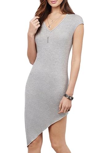 dress grey grey dress gray assymetrical skirt drape skirt summer dress summer outfits summer back to school women pretty casual dress zaful