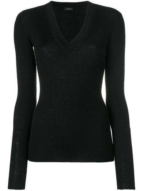 Joseph jumper women black silk wool sweater