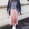 Shiny pleated skirt