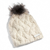 Coach :: BRAIDED CABLE KNIT HAT WITH FUR POM