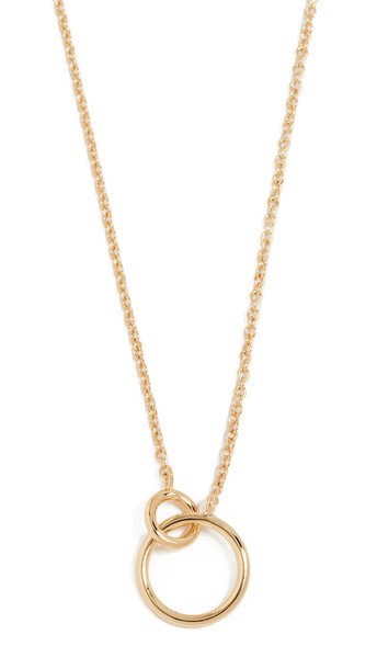 Gorjana Wilshire Charm Necklace in gold / yellow