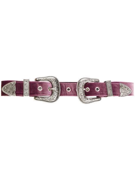 double buckle belt belt purple pink