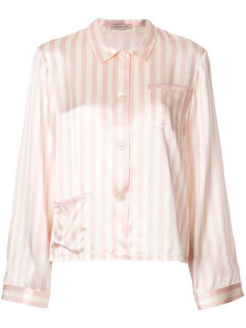 Morgan Lane Ruthie Striped Pyjama Shirt - Farfetch