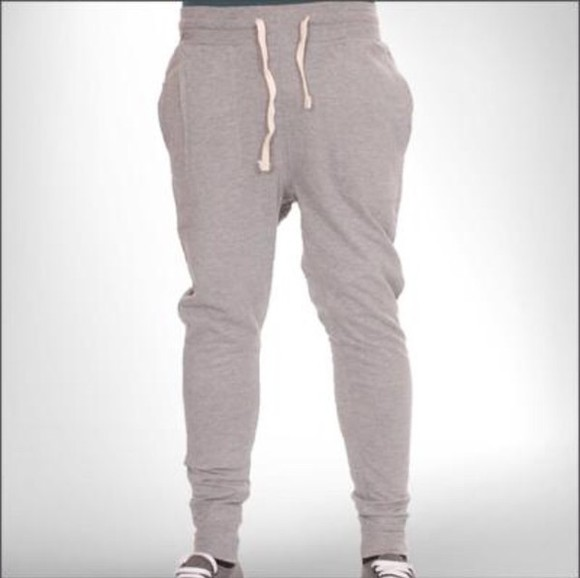 skinny gray carrot fit joggers