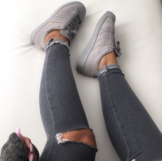 shoes adidas grey style fashion chic love jeans