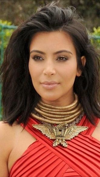 jewels kim kardashian gold choker statement necklace kardashians statement necklace gold necklace balmain birds eagle