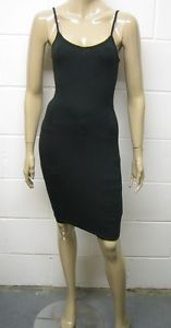 Womens B.C Long Strappy Dress BodyCon Lycra STRETCH Black Size 6 to 14 Ladies | eBay