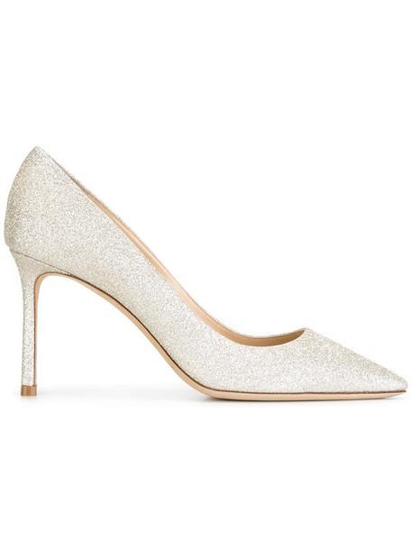 women pumps leather grey metallic shoes
