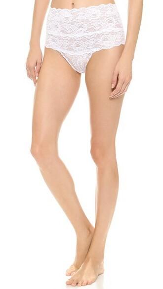 thong high white underwear