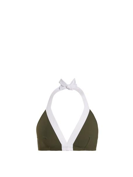 Diane Von Furstenberg bikini bikini top soft white khaki swimwear