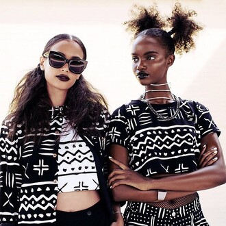 top ontheblock t-shirt daily paper mali african print african print crop tops cropped tee tee ethnic print ethnic