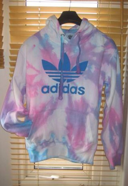 Adidas Pullover Pullover Tie Dye Tye Dye Cute Colors Smiley Face Tie Dye Sweater Wheretoget