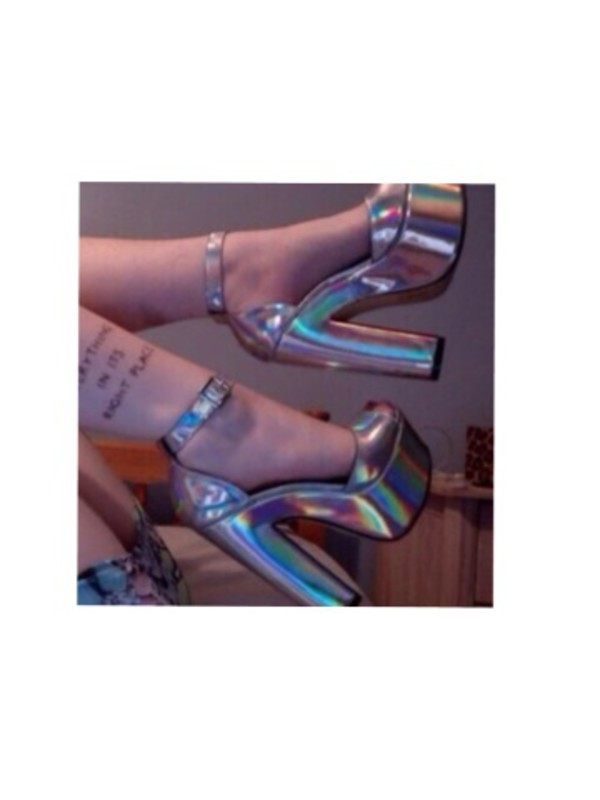 6e19383aa71208 shoes heels silver metallic shoes platform shoes strappy heels buckles  lovely tumblr shoes disco high heels.