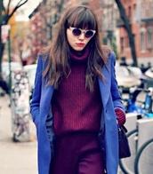 jacket,blazer jacket boyfriend blue bordeaux