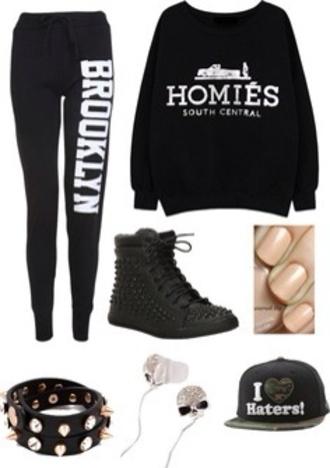 pants pull homies brooklyn homies sweatshirt sweatshirt swag sweater