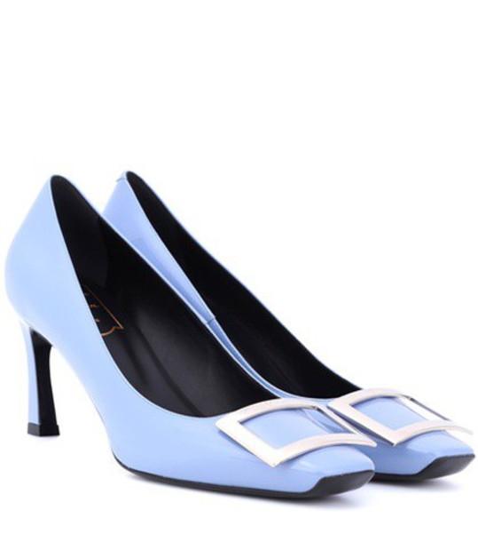 Roger Vivier pumps leather purple shoes