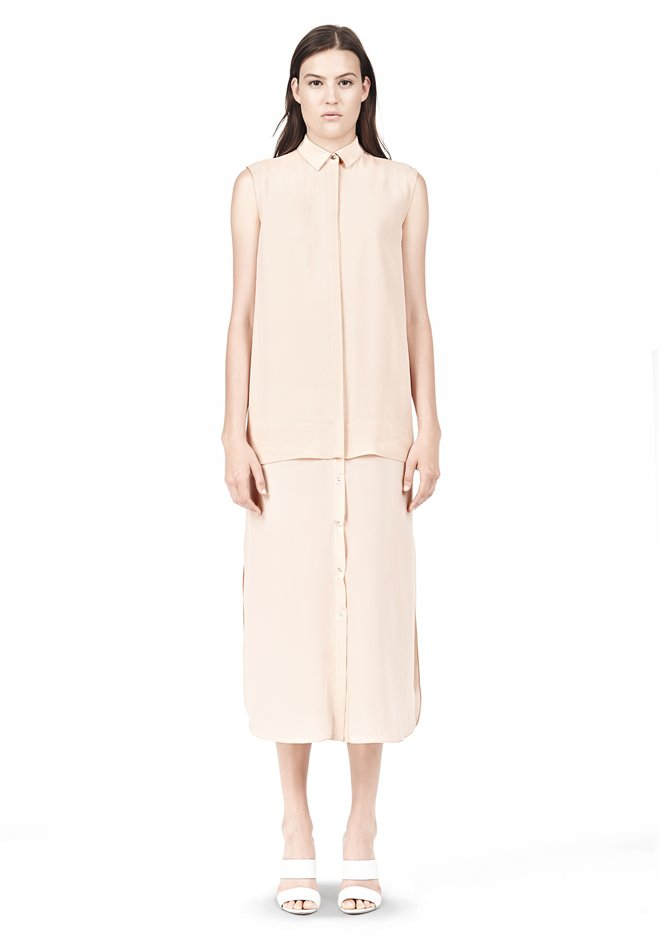 Nectar Silk Chiffon Shirt Dress - Alexander Wang