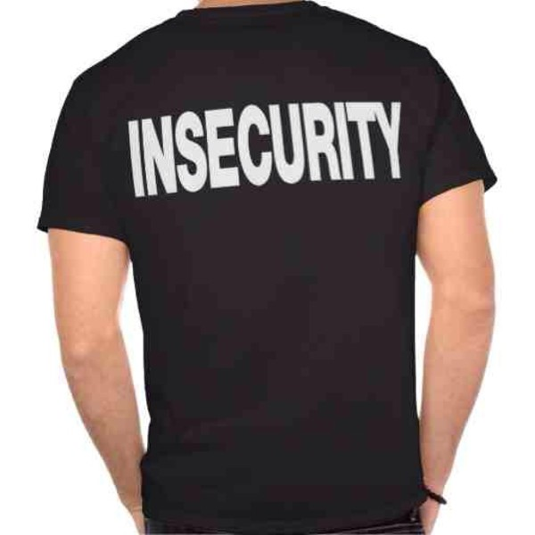 t-shirt insecure black mens t-shirt