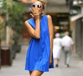 dress,cobalt blue dress,casual dress,summer dress