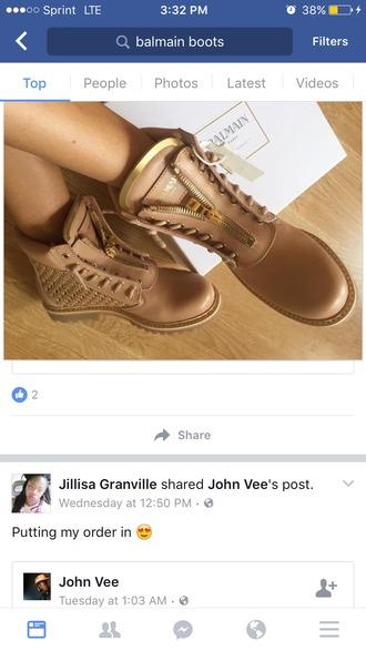 shoes balmain boots flat boots balmain nude boots