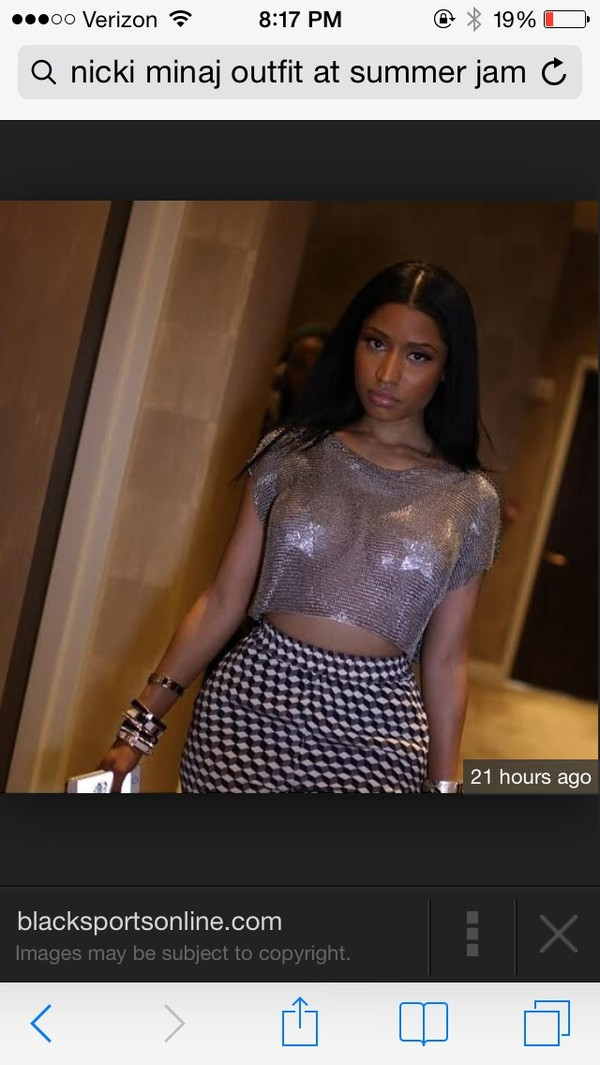 blouse nicki minaj crop tops mesh see through pasties