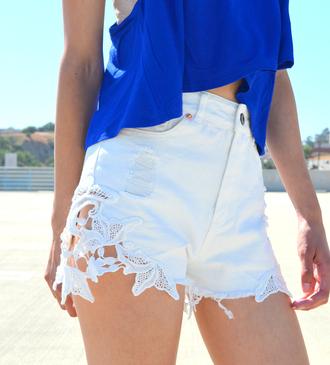 shorts lace shorts white white shorts denim shorts denim white denim white denim shorts white lace shorts white lace denim lace shorts
