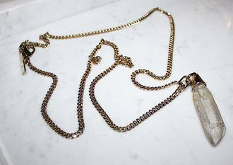 jewels necklace pendant moonlight stone crystal point beautiful perfect vintage