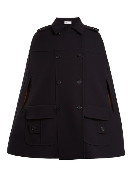 REDValentino cape navy top