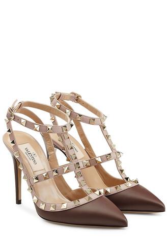 pumps leather multicolor shoes