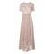 Karo printed silk dress