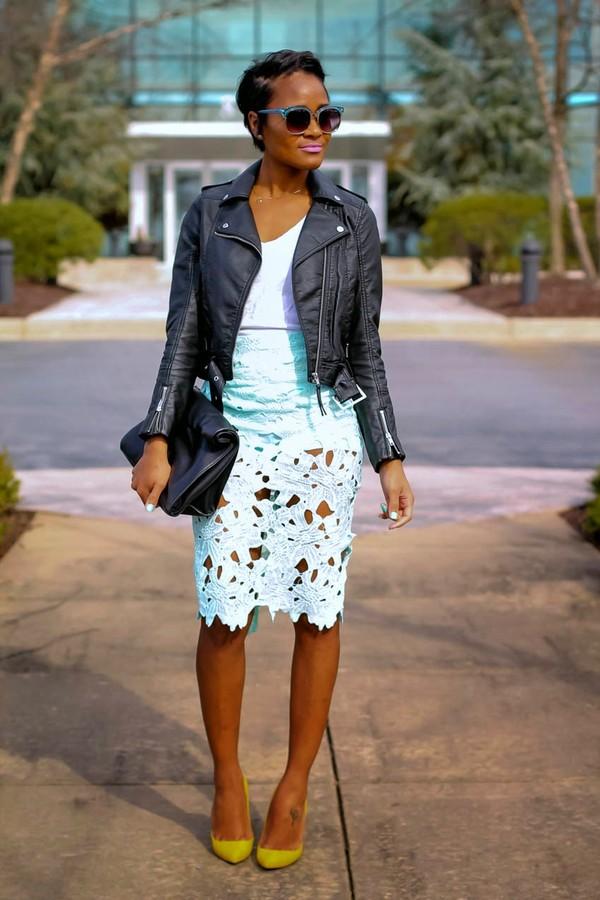 the daileigh jacket t-shirt skirt shoes bag sunglasses