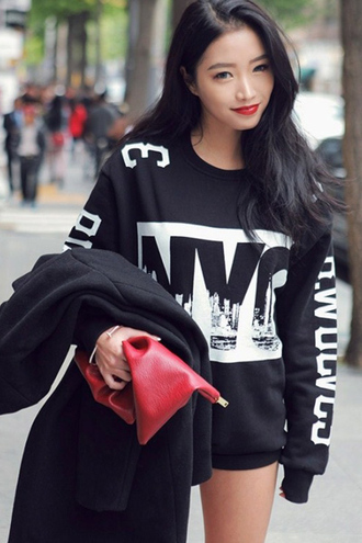 sweater black black sweater black hoodie hoodie fashion streetwear streetstyle