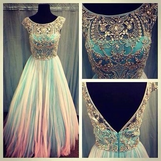 dress long prom dress prom dress beautiful blue blue dress gown graduation dress long flowy nude beige gorgeous straps evening dress ball gown elegent in awe school dance