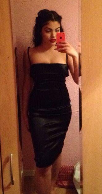 dress black dress lbd little black dress satin dress silk dress silk midi dress bodycon dress