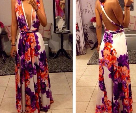 floral dress v front