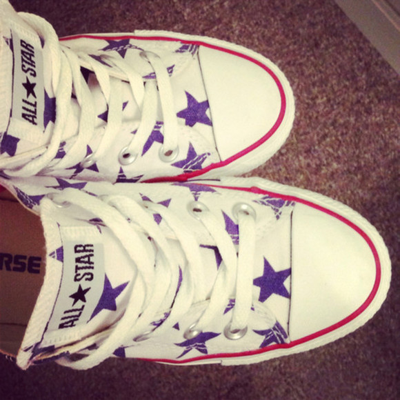 star white blue shoes allstar converse red
